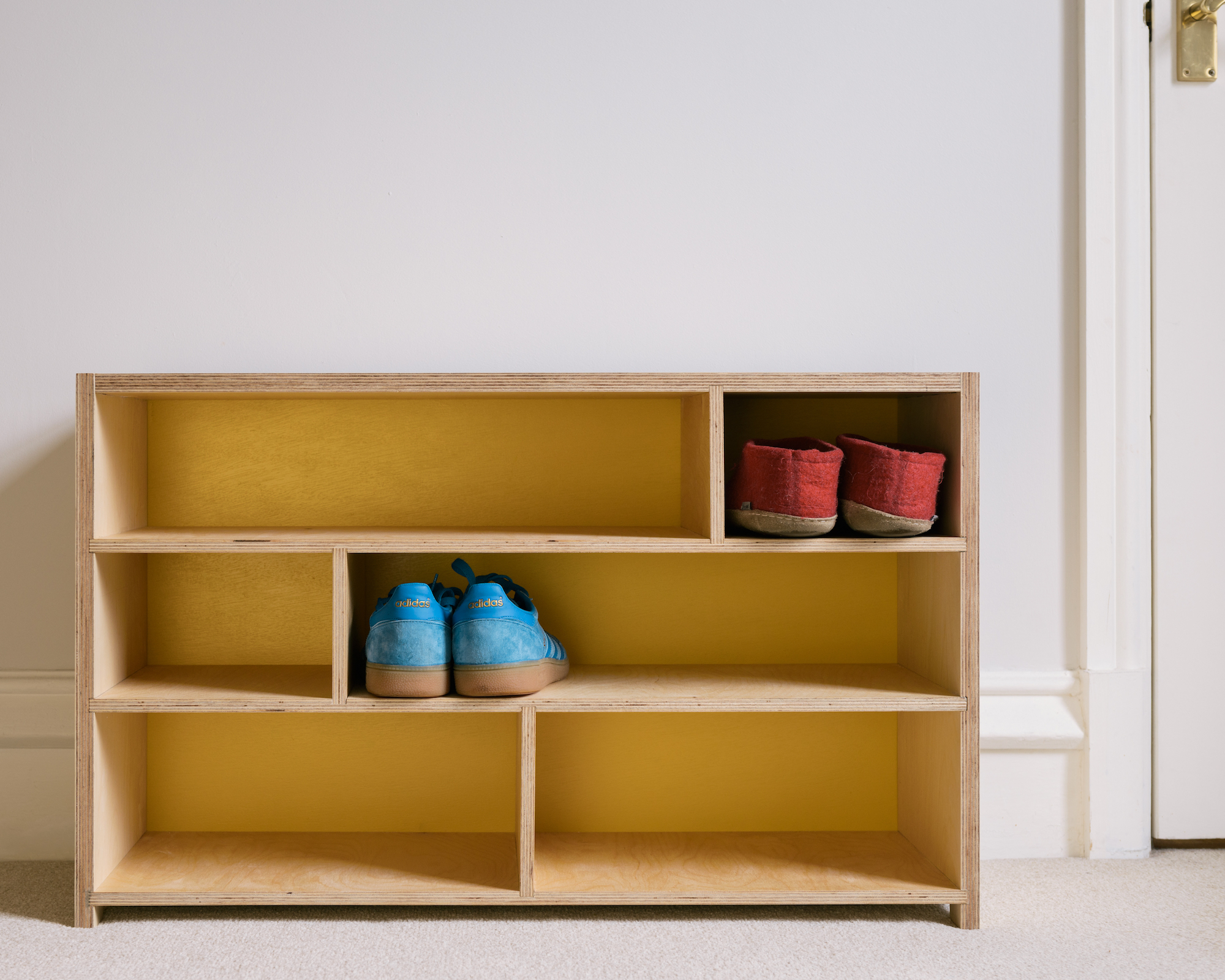 plywood shoe bench