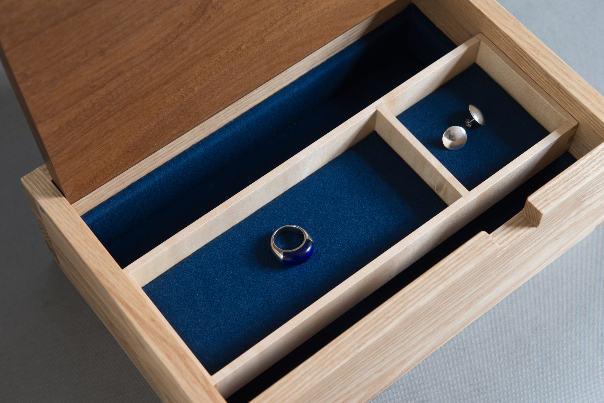 jewellery box insert baize